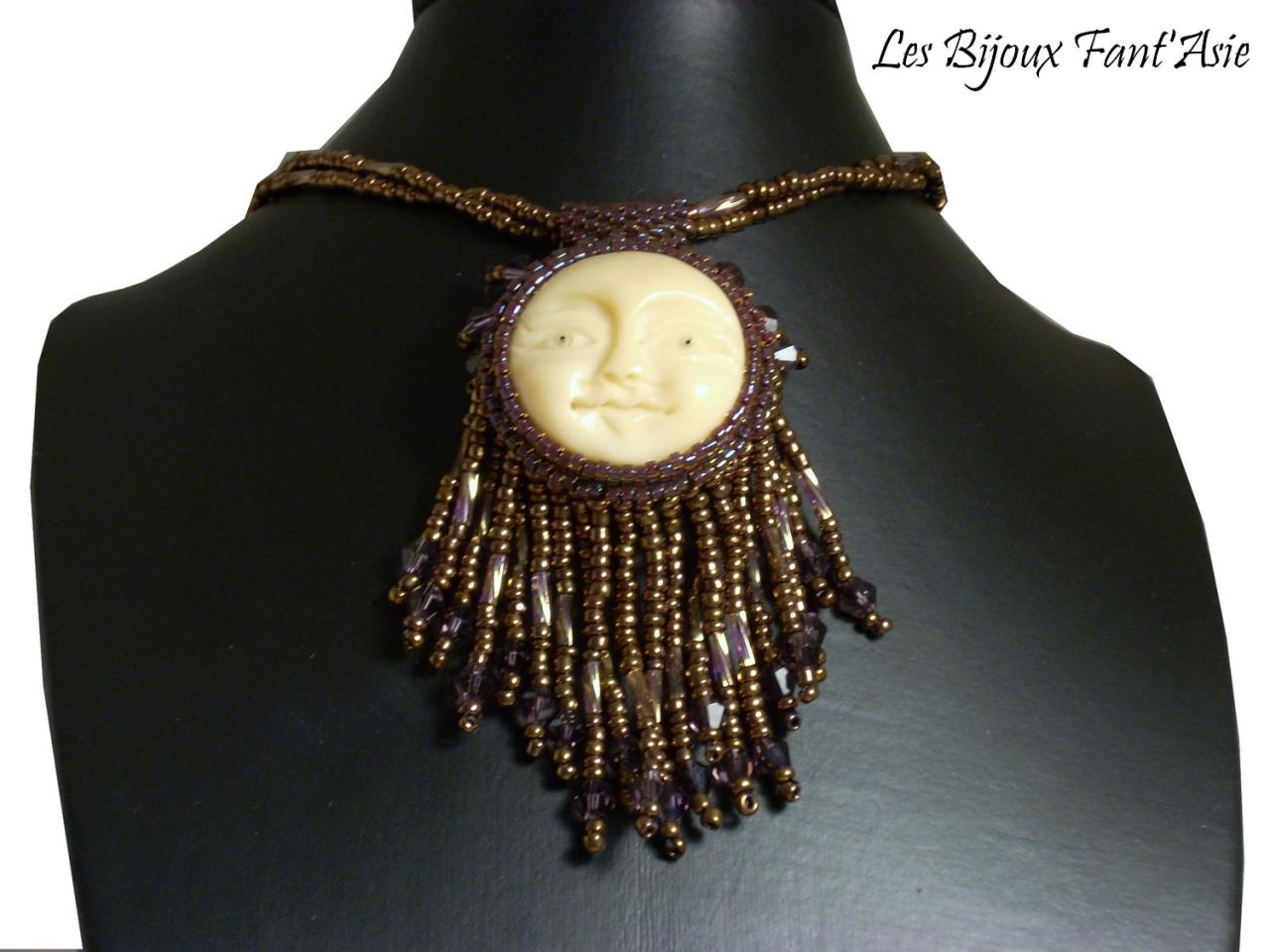 Collier love moon chine