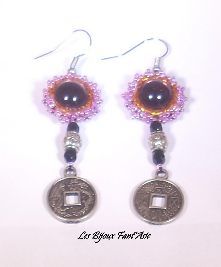 Boucles d'oreilles Lilas indochinois