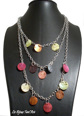 Collier nacre 3 rangs